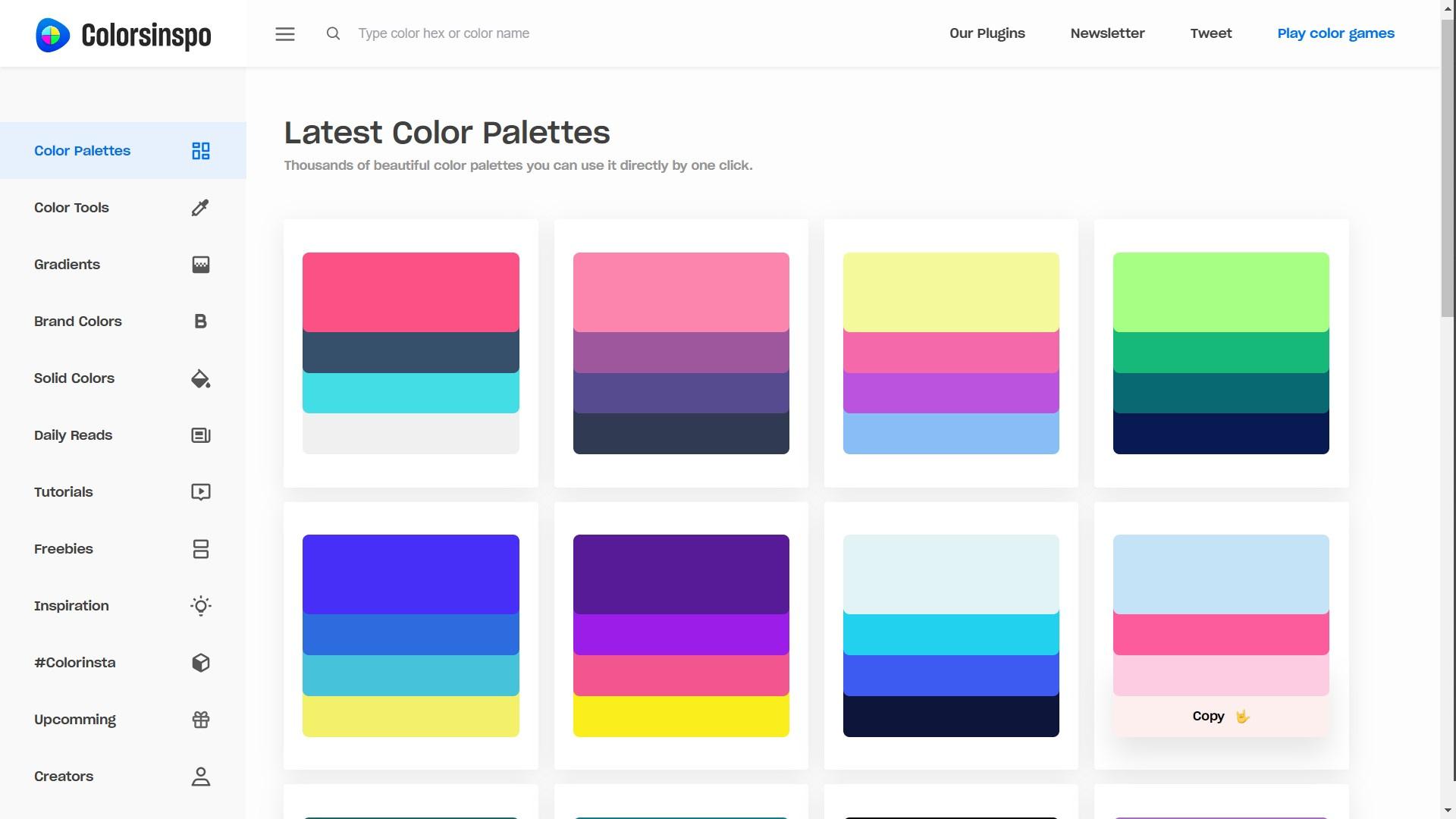 Colorsinspo - ColorPalettes Screenshot