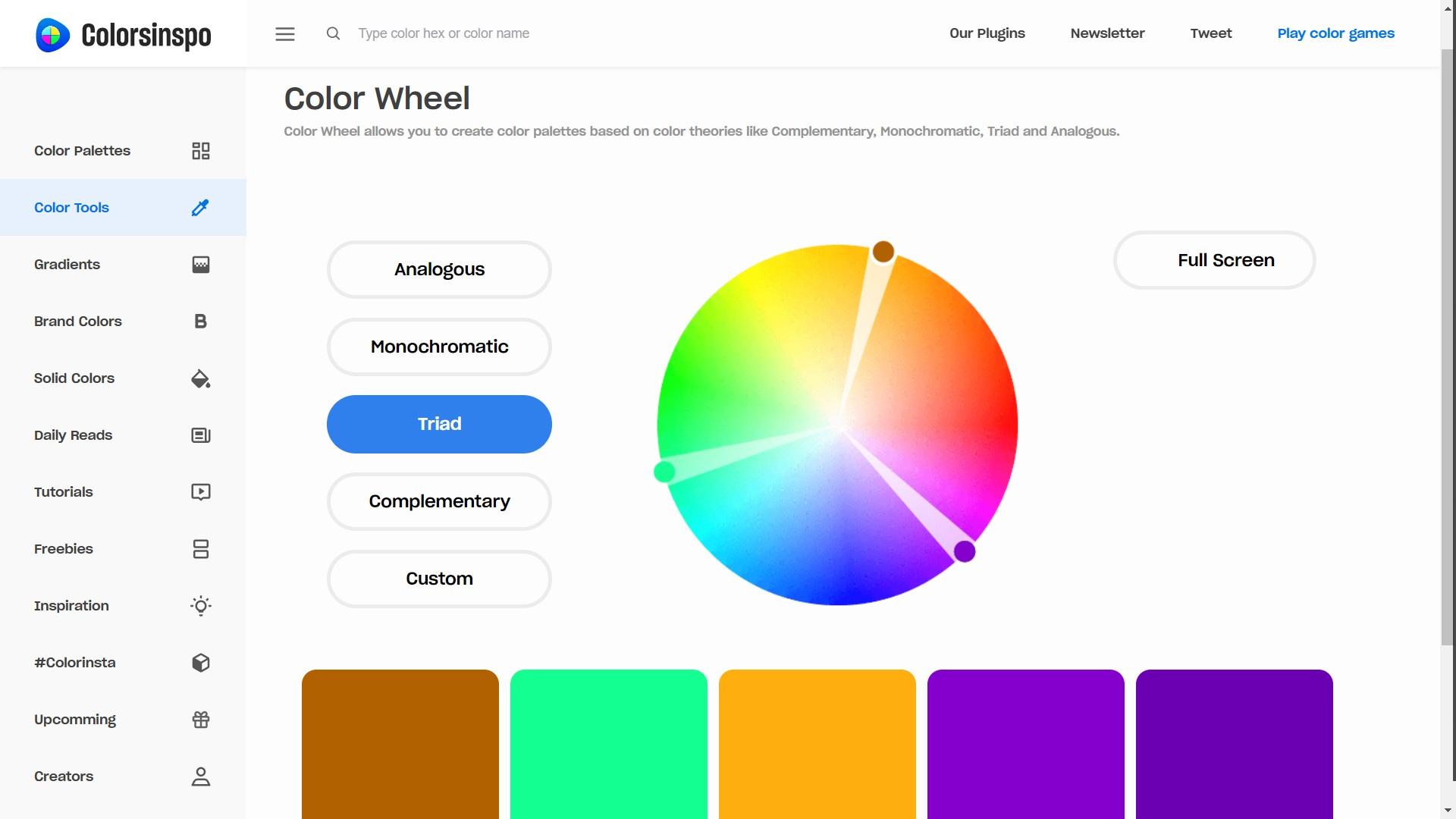 Colorsinspo - Color Wheel Screenshot