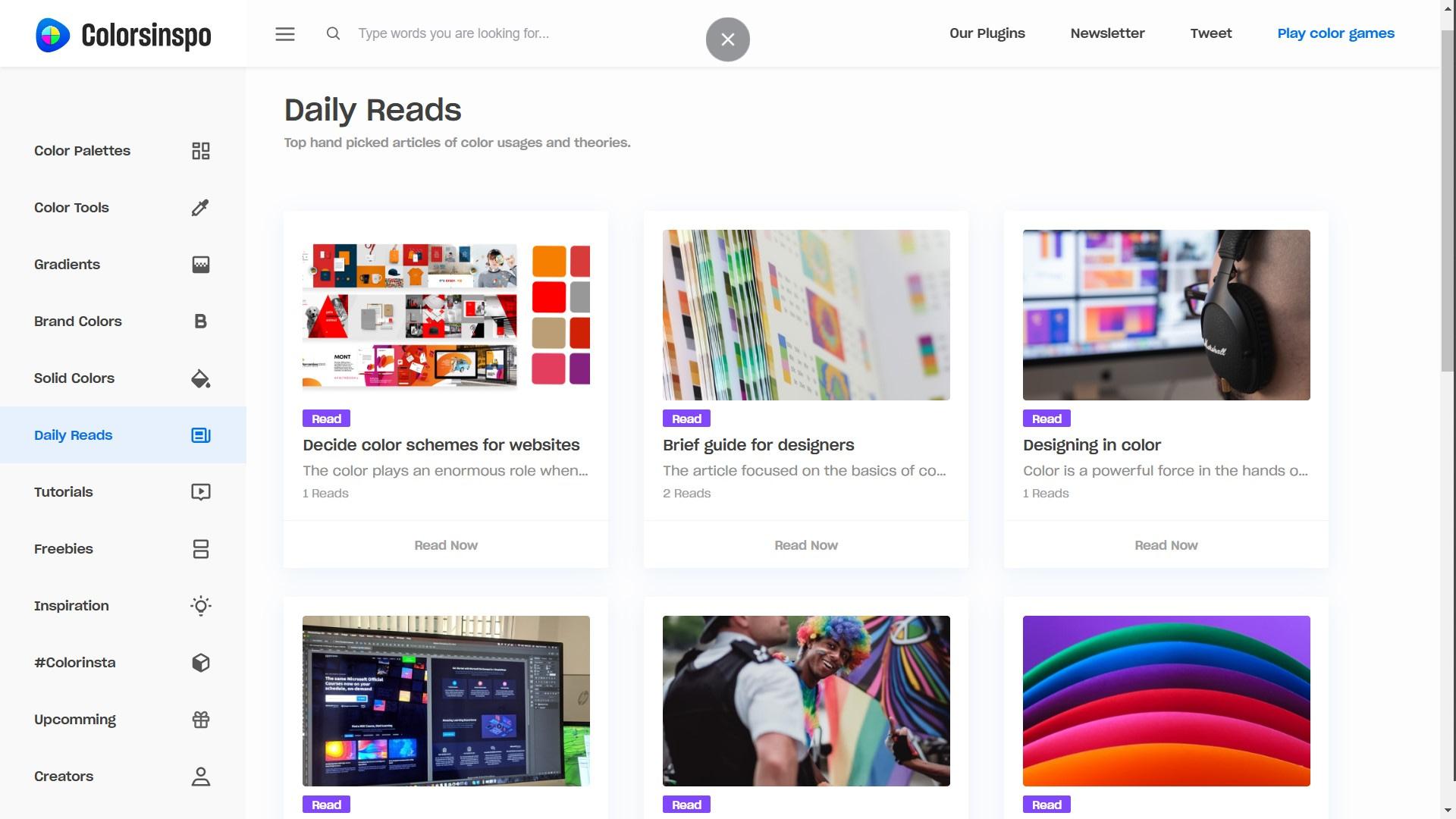 Colorsinspo - DailyReads Screenshot