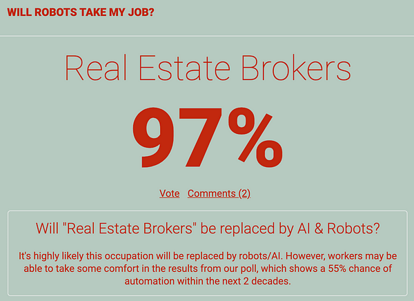 Will robots take my job - real estate brokers